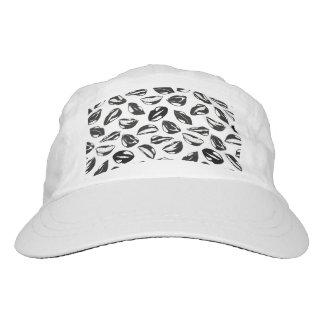 Black Pattern Lips Hat
