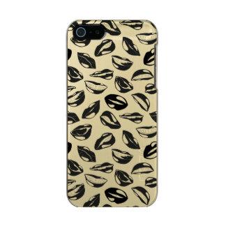 Black Pattern Lips Incipio Feather® Shine iPhone 5 Case