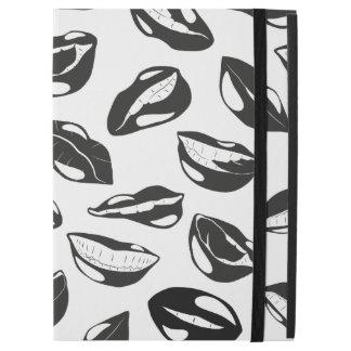 "Black Pattern Lips iPad Pro 12.9"" Case"