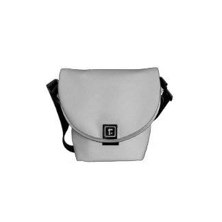 Black Pattern Lips Messenger Bag