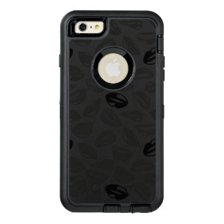 Black Pattern Lips OtterBox Defender iPhone Case