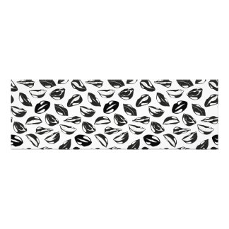 Black Pattern Lips Photo Print