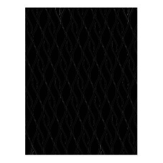 Black pattern postcard