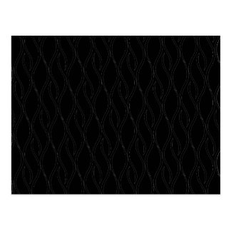 Black pattern postcard