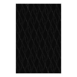 Black pattern stationery paper