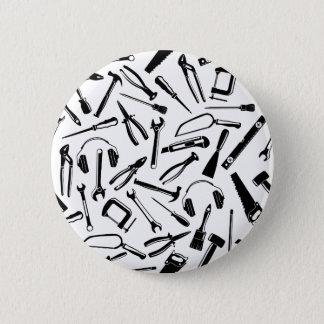 Black Pattern Tools 2 Inch Round Button