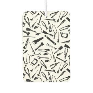 Black Pattern Tools Air Freshener