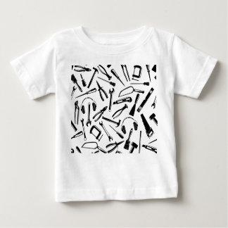 Black Pattern Tools Baby T-Shirt