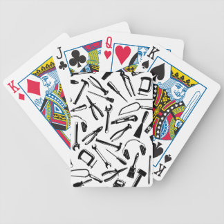 Black Pattern Tools Bicycle Playing Cards