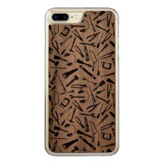 Black Pattern Tools Carved iPhone 8 Plus/7 Plus Case