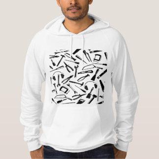 Black Pattern Tools Hoodie