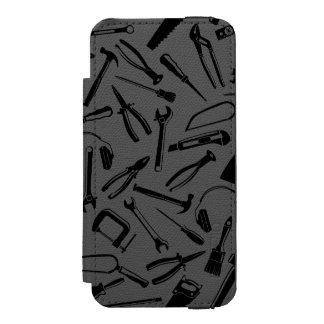 Black Pattern Tools Incipio Watson™ iPhone 5 Wallet Case