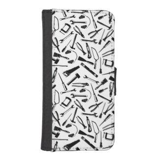 Black Pattern Tools iPhone SE/5/5s Wallet Case