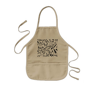 Black Pattern Tools Kids Apron