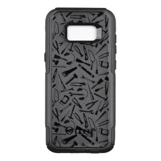 Black Pattern Tools OtterBox Commuter Samsung Galaxy S8+ Case