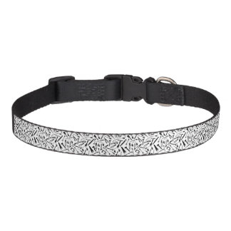 Black Pattern Tools Pet Collar