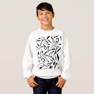 Black Pattern Tools Sweatshirt