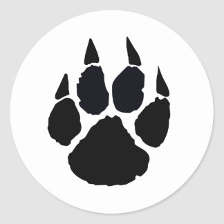 Black Paw Classic Round Sticker