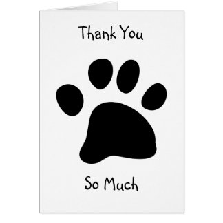 Black Paw, Thank You, So Much Card