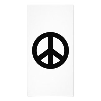 Black Peace Icon Photo Greeting Card