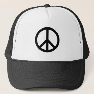 Black Peace Symbol Hat