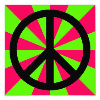 Black Peace Symbol Photo