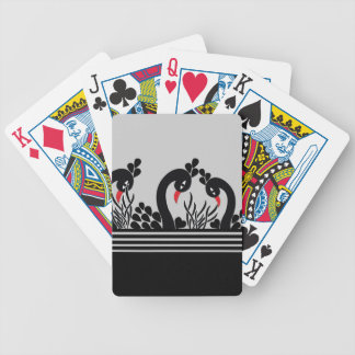 black peacock bicycle playing cards