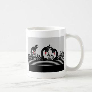 black peacock coffee mug
