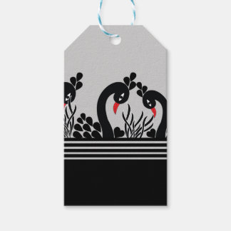 black peacock gift tags