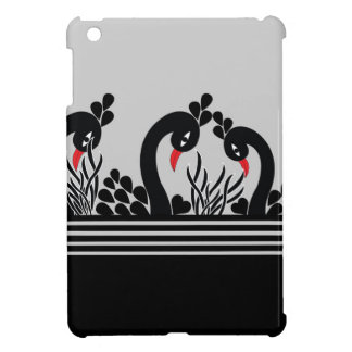black peacock iPad mini case
