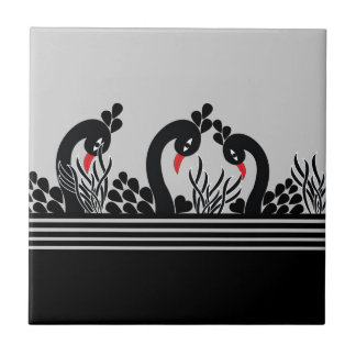 black peacock tile
