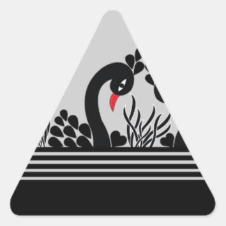 black peacock triangle sticker