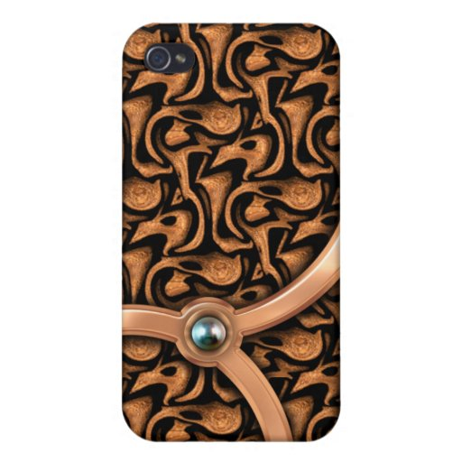 Black Pearl and Wood 4 Cover For iPhone 4