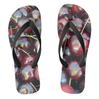 Black Pearl Cherries Flip Flops