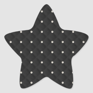 Black Pearl Stud Quilted Stickers