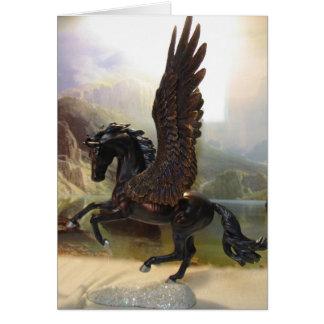 Black Pegasus Greeting Card