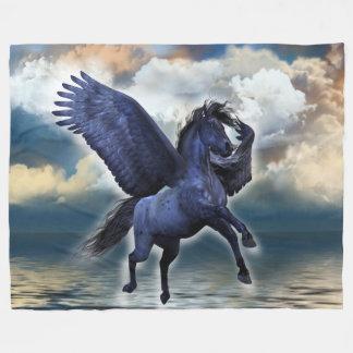 Black Pegasus Large Fleece Blanket