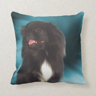 Black Pekingese Dog American MoJo Pillow