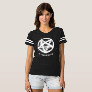 Black Pentagram Football Jersey Tshirt