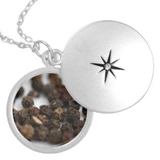 Black Pepper Locket Necklace