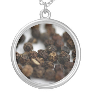 Black Pepper Silver Plated Necklace