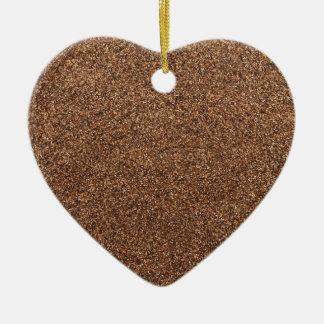 black pepper texture ceramic heart ornament