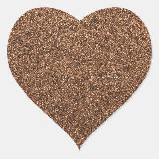 black pepper texture heart sticker
