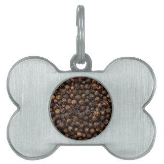 Black peppercorn pet ID tag