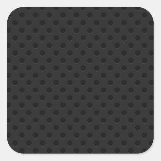 Black Perforated Pinhole Fiber Square Sticker