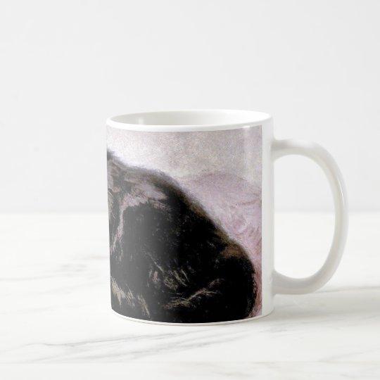 Black Persian Cat Coffee Mug