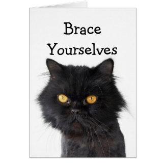 Black Persian Cat Party Invitation