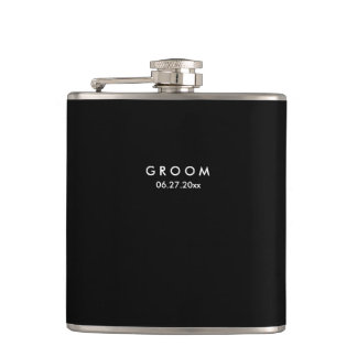 Black Personalized Flasks Wedding Gifts For Groom