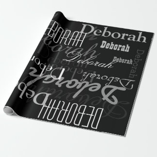 black personalized name pattern, a modern