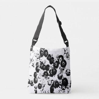 Black Petunias Crossbody Bag